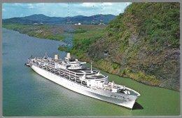 CP  FF-613- M.V. ORIANA,large Tourist Liner,passing Trough Gaillard Cut Of The  Panama Canal .  Non Circulé - Dampfer