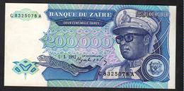 ZAIRE : 200.000  Zaires - P42 - 1992 - UNC - Zaire