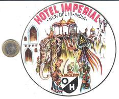 ETIQUETA DE HOTEL     HOTEL IMPERIAL - NEW DELHL  -INDIA - Hotel Labels
