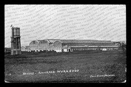CARTE PHOTO :  Nevers – Ateliers Des Chemins De Fer / Railroad Workshop (Ed. Premery). - Nevers