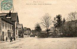 CPA - FRAIZE (88) - Aspect De La Route De Plainfaing Près De La Gare En 1904 - Fraize