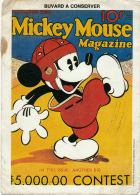 BUVARD :  Walt Disney, Mickey Mouse Magazine, In This Issue Another Big, Baseball (2 Scans) - Cinéma & Théatre