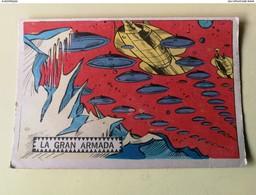 PLATOS VOLADORES AL ATAQUE # 6 ORIGINAL CARD Oesterheld Y Alberto Breccia - SPACE SCI -FI UFO OVNI SOUCOUPE - Confectionery & Biscuits