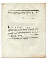 COPIE DE LA LETTRE DE M. GUIGNARD, MINISTRE DU ROI AUX ÉLECTEURS DE LA CHARENTE INFÉRIEURE - Réf. N°73F - - Historical Documents