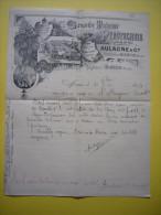 Belle Facture  Illustrée Grande Maison Pyrotechnie Aulagne & Cie 1894 à Monteux 84 Artificiers - France