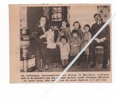 MERCHTEM...1936... HET GEZIN COOREMANS - VAN DEN BROECK DE ZEVENDE DOCHTER - Old Paper