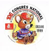 106 Congrès National De La F.des Sapeurs Pompiers De France  Orléans 1999 - Stickers