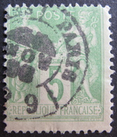 "R1749/119 - SAGE TYPE II N°106 - BEAU CàD DES IMPRIMES "" PARIS PP9 "" - 1876-1898 Sage (Type II)"