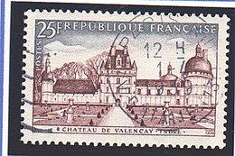 """SITES ET MONUMENTS - 1957: 25F Brun-rouge Et Gris-bleu  """"Château De Valençay""""  N° 1128 Obl - Oblitérés"""