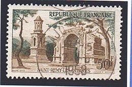 """SITES ET MONUMENTS - 1957: 50F Bistre Et Vert  """"St Rémy-les-Antique""""  N° 1130 Obl - Oblitérés"""