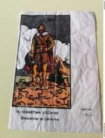 VINTAGE SPANISH BUBBLE GUM WAX WRAPPER - FAMOUS SAILORS - Confectionery & Biscuits