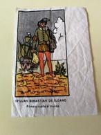 VINTAGE SPANISH BUBBLE GUM WAX WRAPPER # 19 - FAMOUS SAILORS - Confectionery & Biscuits