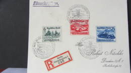 DR 33-45: E-Fern-Brief Mit IAA SoStpl Berlin- Charlottenburg 5 (046) Nach Dresden Vom 19.2.39 Knr: 686/8 - Deutschland