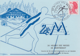 Carte  24   HEURES  DES   NEIGES  DE  MONTBENOIT   LIEVREMONT  1983 - Skisport