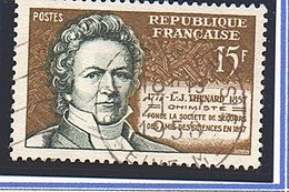 "CELEBRITES - 1957: 15F Jaune-olive Et Vert Foncé  ""L.J. Thénard""  N° 1139 Obl - Oblitérés"
