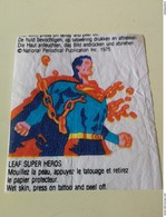 VINTAGE SUPERMAN LEAF BUBBLE GUM WAX WRAPPER TATTOO - Confectionery & Biscuits