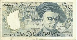 FRANCE - 50 FRANCS - 1991 - 771809 O.69 - CIRCULÉ - VOIR PHOTOS E PRIS - 50 F 1976-1992 ''Quentin De La Tour''