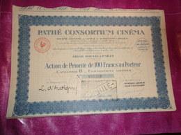 PATHE CONSORTIUM CINEMA (1925) - Shareholdings