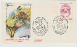 344-Storia Postale-Marcofilia-Tema:Europa-Servizio Postale-F. Tasso-Annullo SpecialeCamerata Cornello 1982 Su F.D.C.Roma - 6. 1946-.. Repubblica