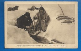 CANADA - MISSIONS D'EXTREME NORD - FRERES À LA PECHE SOUS LA GLACE (OBLATS) - PECHE FRUCTUEUSE - Northwest Territories