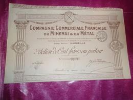 Compagnie Commerciale Française Du Minerai & Du Métal (1920) - Non Classés