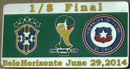 PIN FIFA 2014 BRASIL Vs CHILE 1/8 FINAL - Fussball