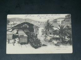 CANNES    1900  LA GARE / TRAIN A VAPEUR    EDITEUR - Cannes