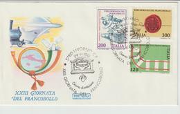 350-Storia Postale-Marcofilia-Tema:Filatelia-Giornata Del Francobollo-Annullo Speciale Livorno 1981 Su F.D.C.Roma - 6. 1946-.. Repubblica