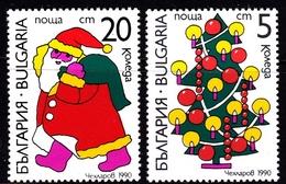 Bulgaria Scott 3577-3578 1990 Christmas, Mint Set - Unused Stamps