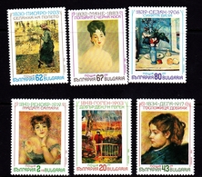 Bulgaria Scott 3603-3608 1991 French Impressionists, Mint Never Hinged - Unused Stamps