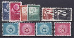 Nations Unies New-York N° 48 / 55 XX Année Complète 1957, Les 10 Valeurs Sans Charnière, TB - New York -  VN Hauptquartier