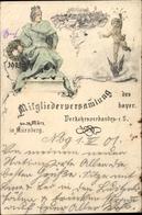 Lithographie Nürnberg In Mittelfranken Bayern, Mitgliederversammlung Des Bayr. Verkehrsverbandes 1901 - Andere