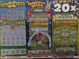 6 GRATTA E VINCI DIVERSI - TRIS VINCENTE IVHEEL OF FORTUNE TURISTA PER SEMPRE DOPPIA SFIDA TUTTO PER TUTTO 20 X - Loterijbiljetten