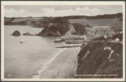 Charlestown Beach, St Austell, Cornwall, 1955 - Postcard - England