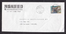 Togo: Cover To Netherlands, 1989, 1 Stamp, US President John F. Kennedy, Jackie, Rare Real Use (damaged) - Togo (1960-...)