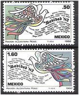 Mexico 1982 Christmas, Birds, Doves, Tauben Mi 1846-1847 MNH(**) - Mexique