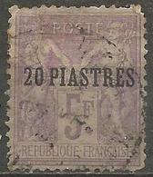 Levant - 1886 Sage 20pi/5fr Used   Mi 6  Sc 7 - Levant (1885-1946)