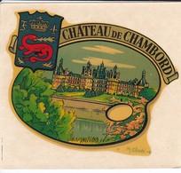 RARE---BLASON ARMOIRIE--décoralo--41---CHATEAU DE CHAMBORD--illustration  M. CLADE---voir2 Scans - Stickers
