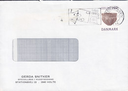 Denmark GERDA SNITKER Special Doctor Skin Disease Stationsvej HOLTE 1992 Cover Brief Archaelogy Stamp - Dänemark