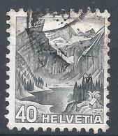 Switzerland 1936. Scott #236 (U) Alpine Lake Of Santis * - Oblitérés