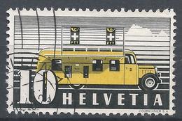 Switzerland 1937. Scott #237 (U) Mobile Post Office * - Oblitérés