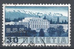 Switzerland 1938. Scott #239 (U) Palace Of League Of Nations * - Oblitérés