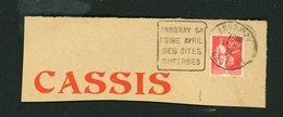 """FRANCE -  FLAMME DAGUIN """"ANNONAY SA FOIRE AVRIL SES SITES SUPERBES"""" DE ANNONAY 1934 - Marcophilie (Lettres)"""