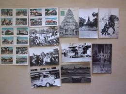 LOT DE 13 CP Et PHOTOS Des Années 50 Du CAMBODGE - Cambodia