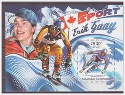 0558 Burundi 2012 Sport Skiën Skiing Erik Guay Canada S/S MNH - Skisport