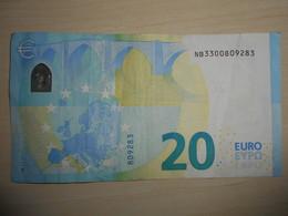NB N008C3 !!! Austria Österreich Autriche 20 Euro Draghi  Serial Number: NB!!! N008 Used Gebraucht - EURO