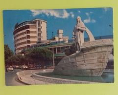 Cartolina ABANO TERME - PD - Viaggiata - Postcard - Monumento A Cristoforo Colombo E Hotel Ambassador - Padova