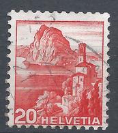 Switzerland 1938. Scott #242b (U) Lake Lugano * - Oblitérés