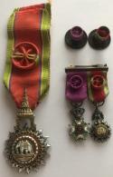 Médailles-décorations. Thailande. Officier De L'Ordre De L'Eléphant Blanc Et Belgique Ordre De Léopold. - Monarchia / Nobiltà