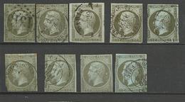LOT DE NAPOLEON N° 11 OBL / 2ème CHOIX - 1853-1860 Napoléon III.